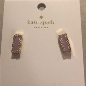 Kate Spade purple and gold earrings